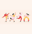 male and female dancers set isolated on white vector image
