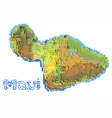 maui abstract map vector image vector image