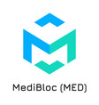 medibloc med crypto coin ic vector image vector image