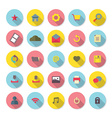 Modern Flat Design Website Icons Set vector image vector image