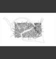 outline city concept wire-frame style vector image vector image