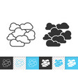 overcast simple black line icon vector image vector image