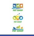 Pet shop logo icon design vector image vector image