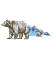 polar bear poster vector image vector image