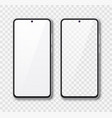realistic smartphone mock up set mobile phone vector image