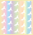 seamless pattern from white unicorns silhouette vector image