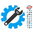 Service Tools Icon With Free Bonus vector image vector image