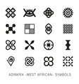 set akan and adinkra west african symbols vector image vector image