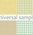 Set from nine original samples vector image vector image
