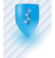 shield with paragraph vector image vector image