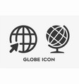 simple set globe icon vector image