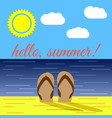 summer on beach vector image