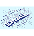 three dimensional word email with people vector image