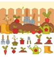 Tools for working in garden vector image vector image