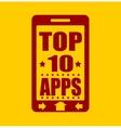Top ten apps text on phone screen vector image