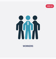 two color workers icon from strategy concept vector image vector image