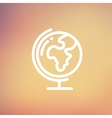 World globe with stand thin line icon vector image vector image