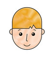 young man head avatar character vector image vector image