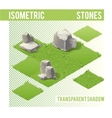 Isometric Stones and lawn vector image