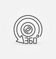 360 camera outline icon - 360-degree lens