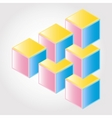 3d blocks vector image