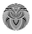 abstract polynesian ethnic circle tattoo design vector image vector image