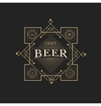 antique frame vintage border craft beer label vector image vector image