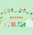 back to school stationery and school items vector image