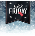black friday snowfall background vector image vector image