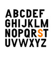 bold condensed grotesque font uppercase vector image vector image