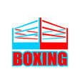 boxing ring sign symbol boxing icon vector image vector image