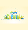 brazilian carnival background vector image vector image