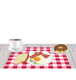 breakfast set vector image vector image