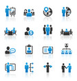 business management and human resource icons vector image vector image