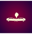 Car crash concept vector image