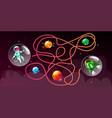 Cartoon cosmic maze education game
