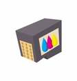 Cartridges for printer icon cartoon style vector image