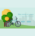 city bicycle hire rental tours for tourists and vector image