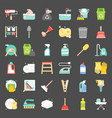 cleaning and house keeping service icon set vector image vector image