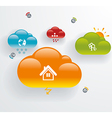 Cloud computing technology connectivity concept vector image vector image