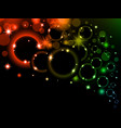 colorful light bubbles background neon rainbow vector image