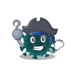 cool coronavirus covid19 19 in one hand pirate vector image vector image