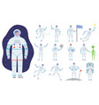 cosmonaut costume professional clothes of vector image vector image