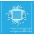 CPU Microprocessor White section of vector image vector image