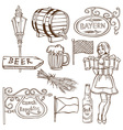 Czech beer and Bavarian drawing vector image