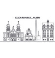 czech republic pilsen line skyline vector image