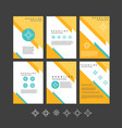 design templates collection for banners vector image vector image