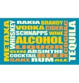 Drink alcohol beverage Relative words cloud vector image
