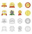 emblem and badge sign set vector image vector image