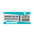 flight boarding pass icon image vector image vector image